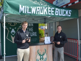 Milwaukee Bucks tent