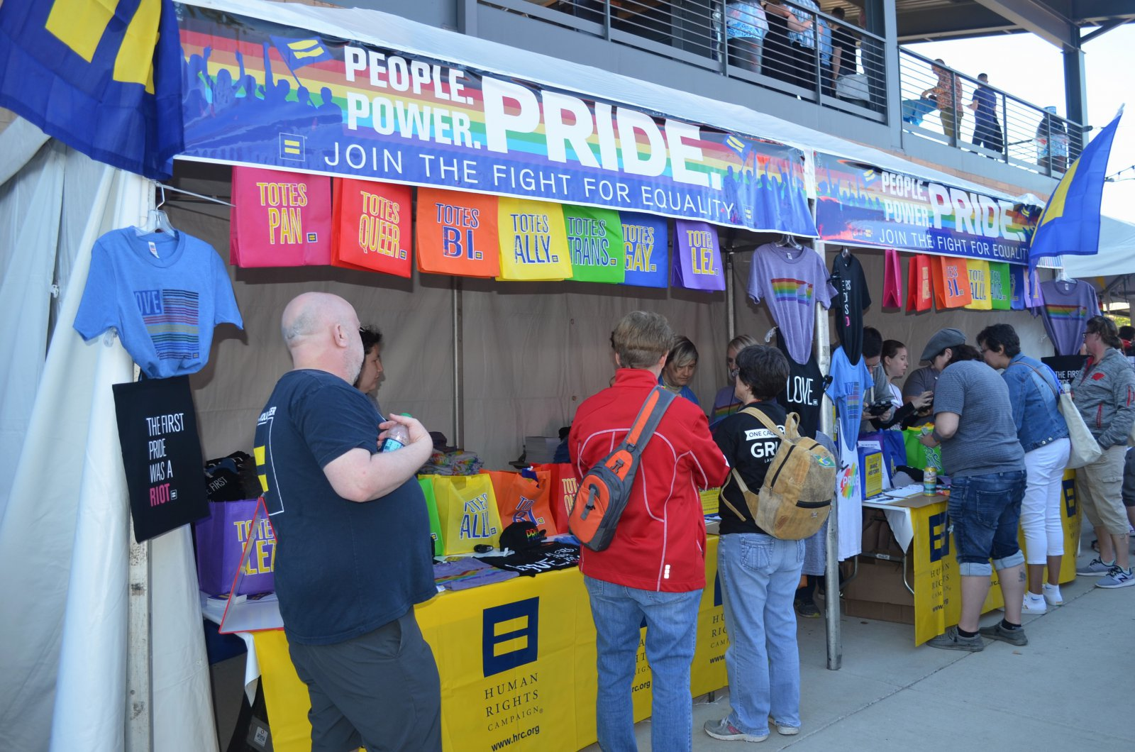 Human Rights Campaign state at PrideFest 2019
