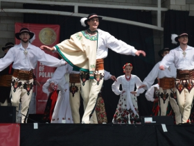 Polish folk dancing