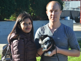 Pri and Richard with their Rabbit Bae at Petfest 2018