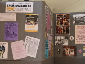 Pride artifacts from UWM at history exhibit