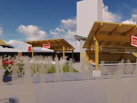 The Klement's Sausage & Beer Garden Rendering