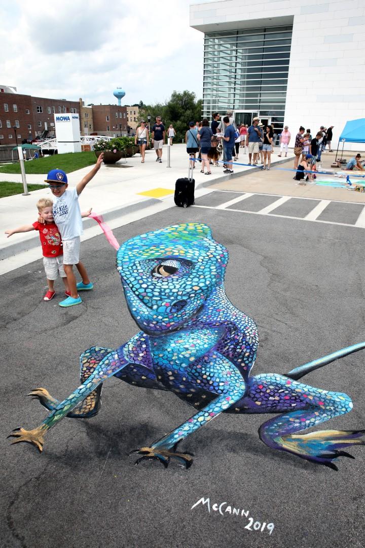 Chalk art by artist, Shawn McCann, from Minneapolis, MN