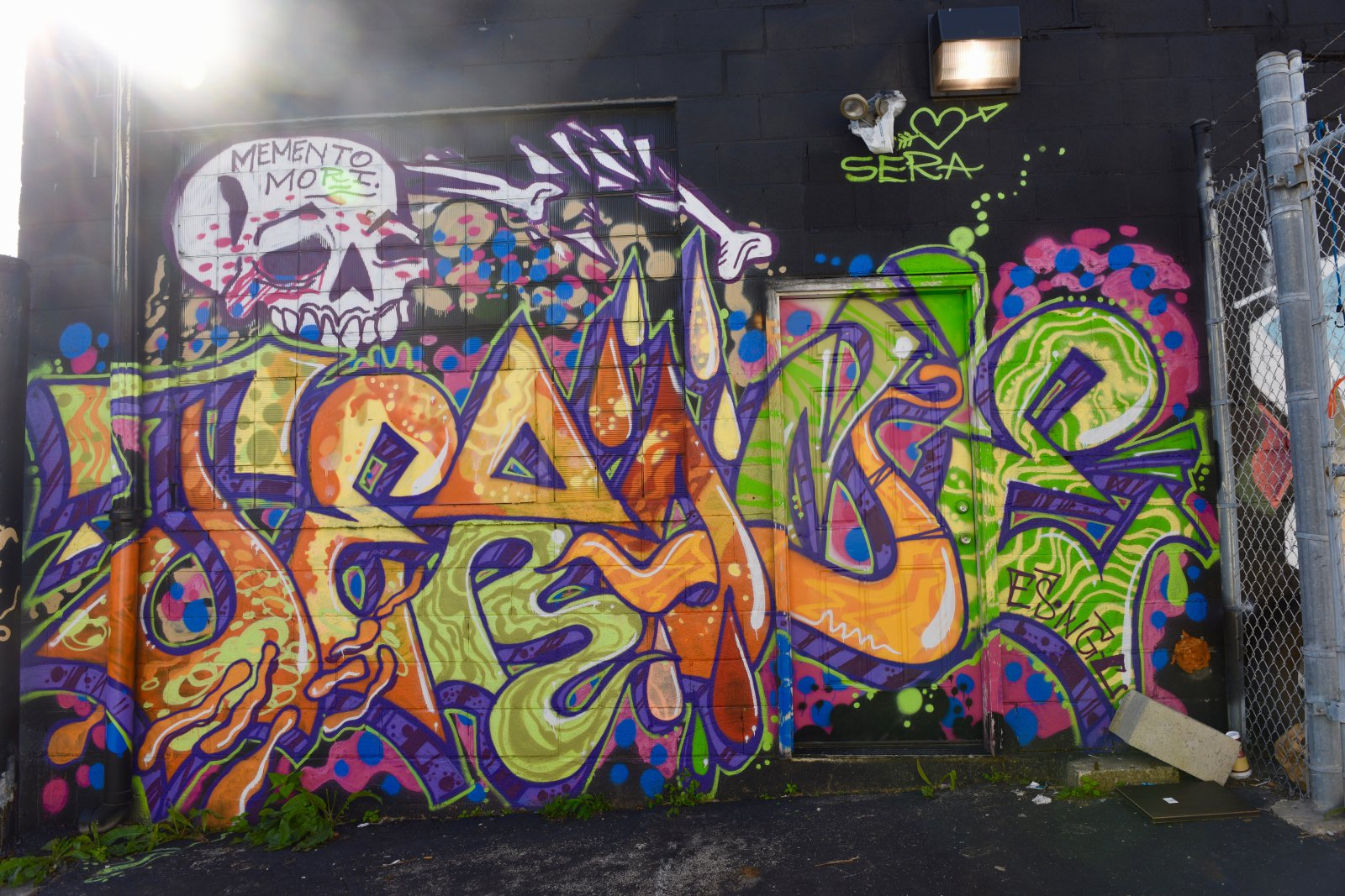 This graffiti-style mural is south of West National Avenue and 11th Street