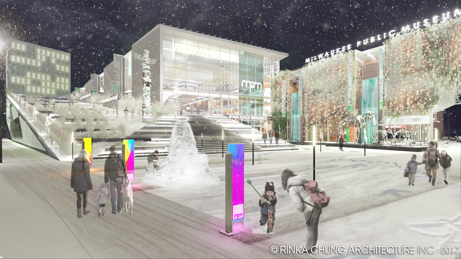 Conceptual design for the Milwaukee Public Museum front plaza
