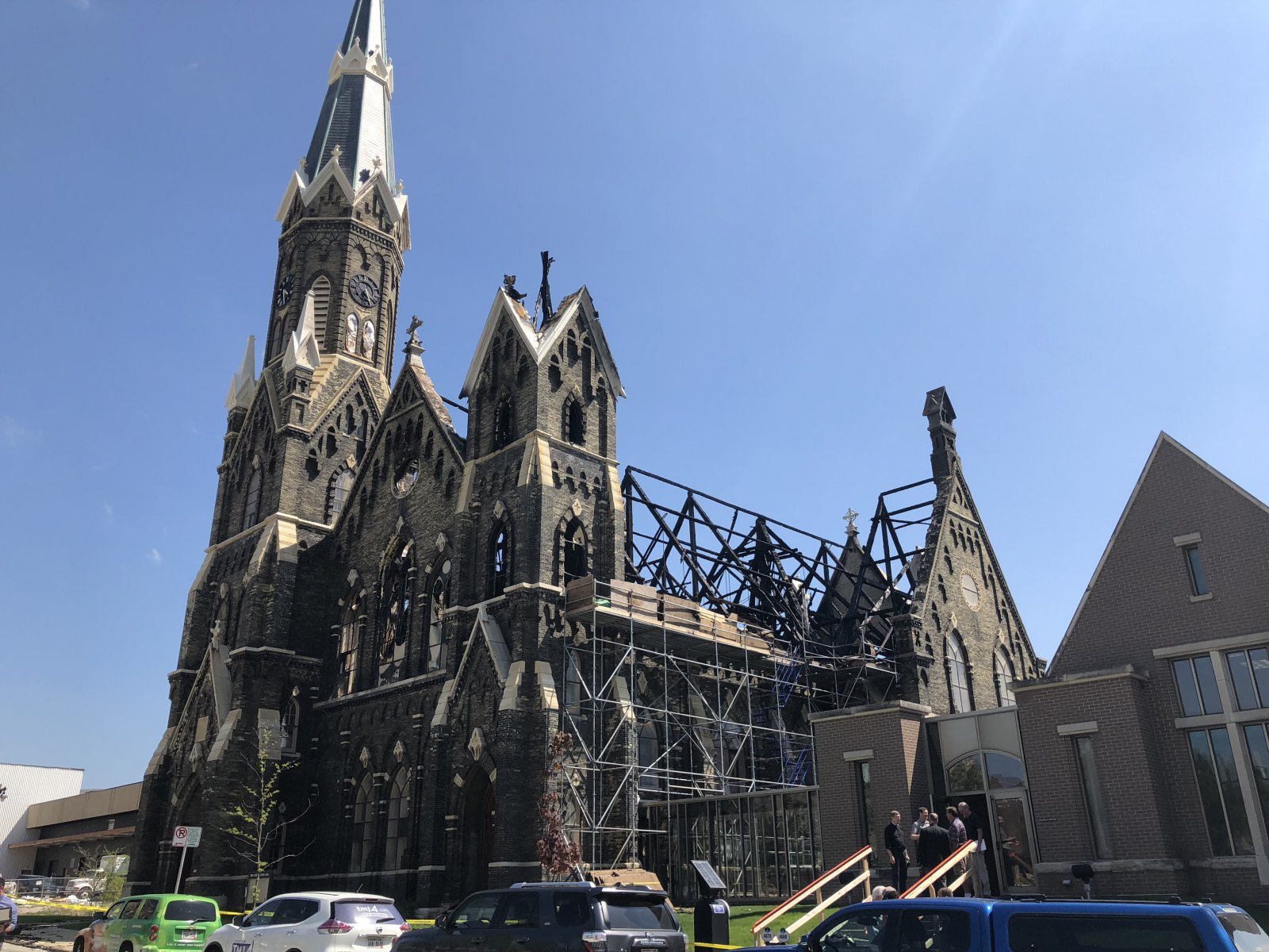 Trinity Evangelical Lutheran Church After the Fire