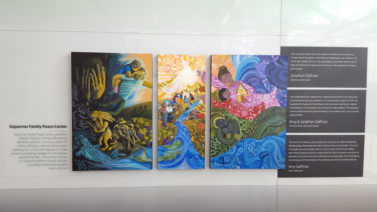 Triptych by Jonathan and Amy Gelfman