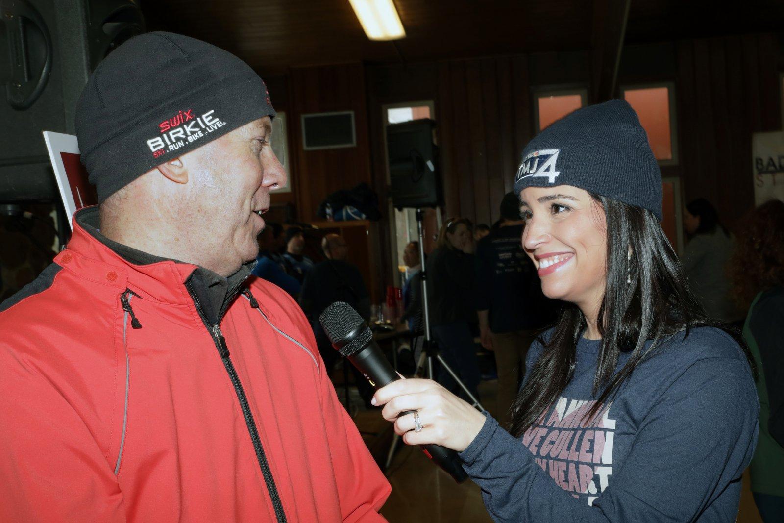 Tom Wetzel from Waukesha and WTMJ Reporter, Julia Fello.