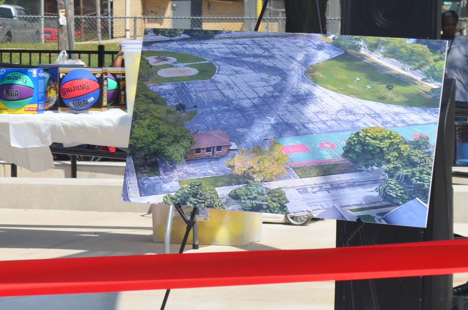 A photo of what Columbia Playfield used to look like at the reopening ceremony