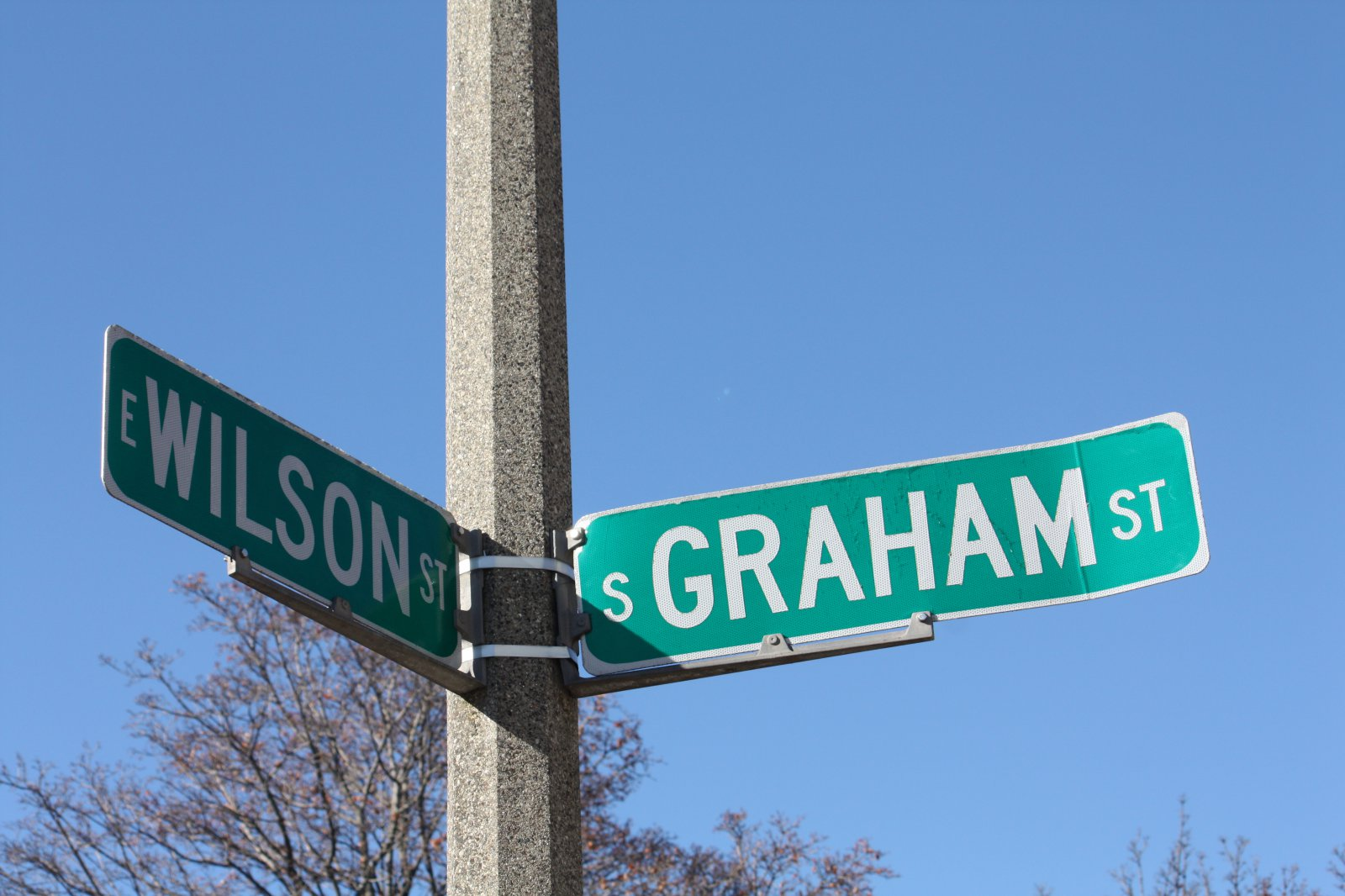 E. Wilson and S. Graham streets