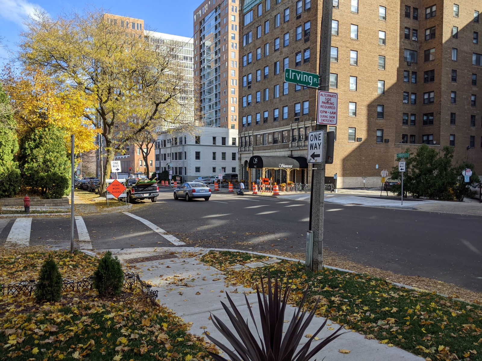 E. Irving Place and N. Prospect Avenue