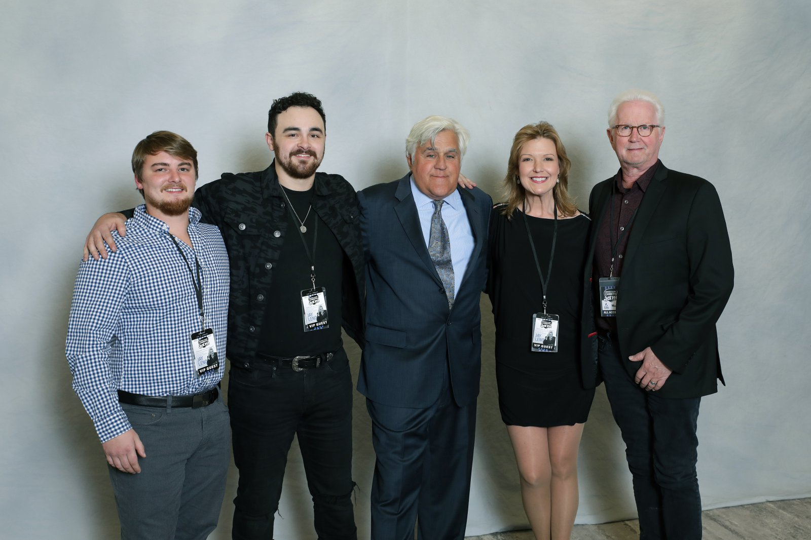 Given Entertainment Nashville, Bailey Downs, Matt Wynn, Cindy Owen, Cliff Downs with Jay Leno.