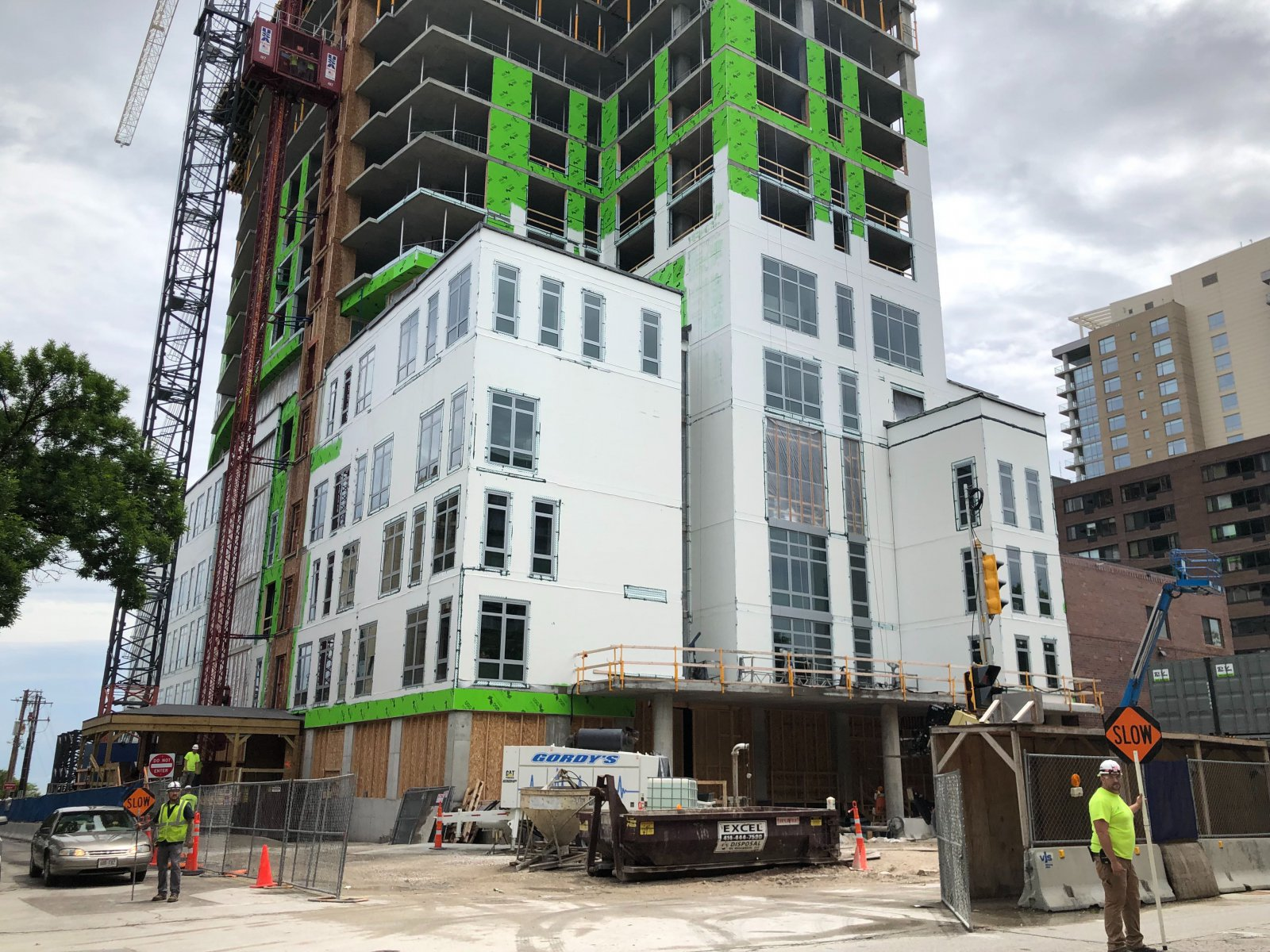 Saint John\'s on the Lake\'s north tower is rising