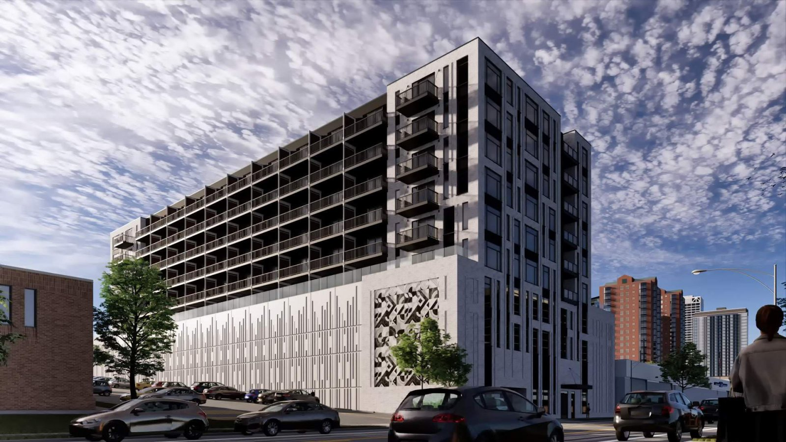 North-west facade