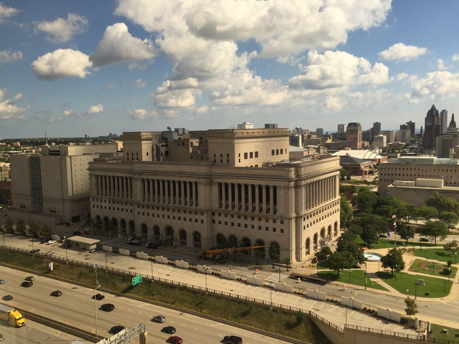 Milwaukee County Courthouse viewed from an apartment in Catholic Financial Life Building