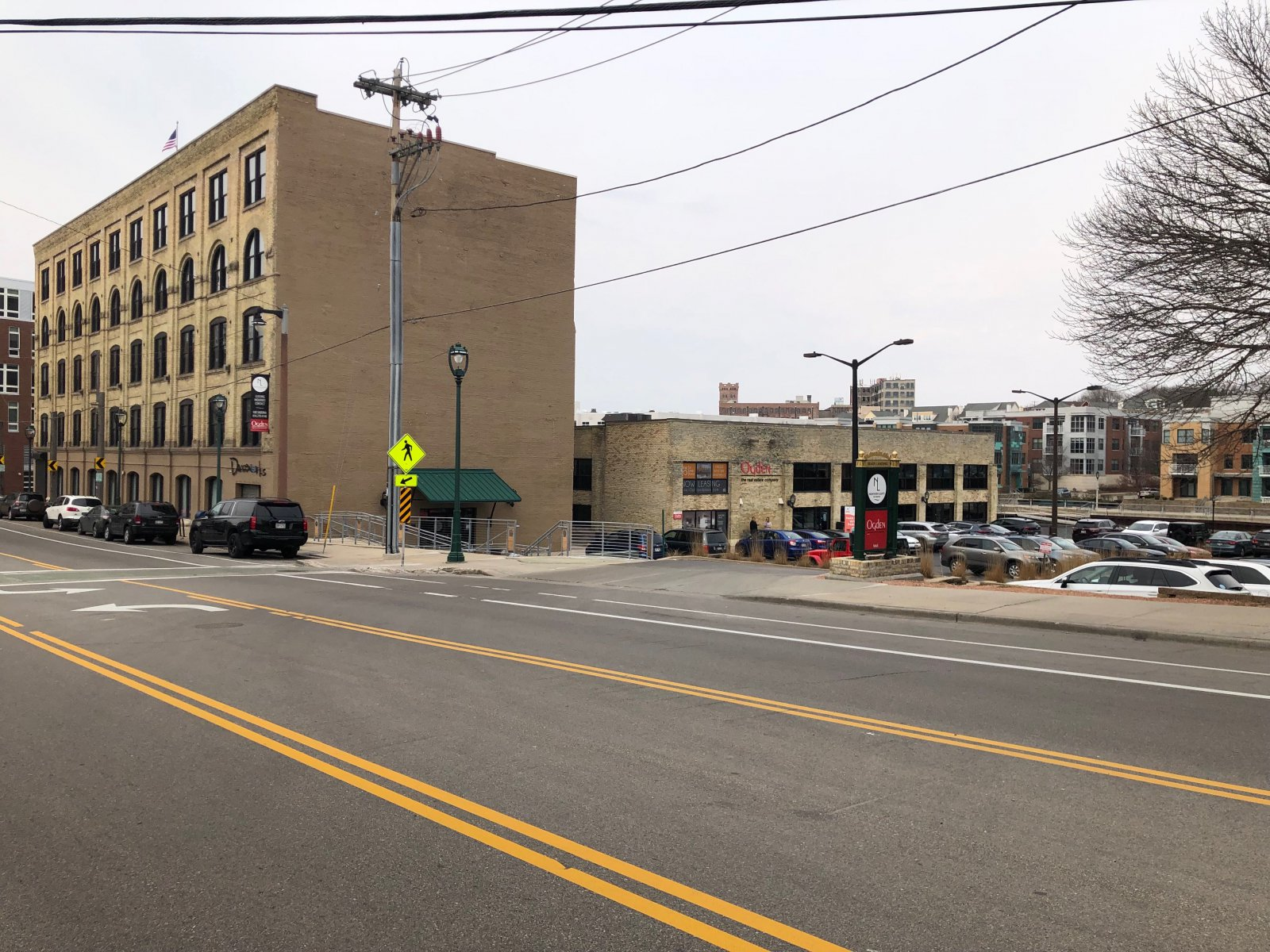 Ogden\'s headquarters is across the street from the site of a proposed five-story, 76-unit apartment building
