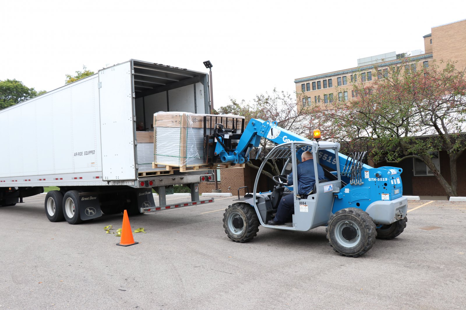 The first delivery of solar panels arrived from Mississippi on Oct. 13.