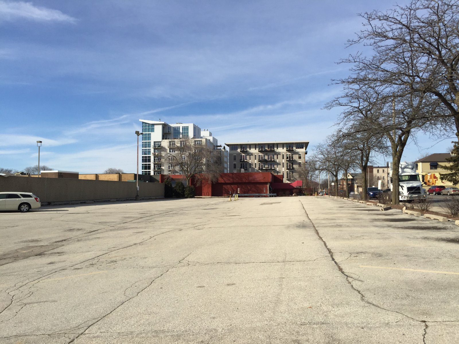 Redevelopment site, former Buca di Beppo and parking lot.