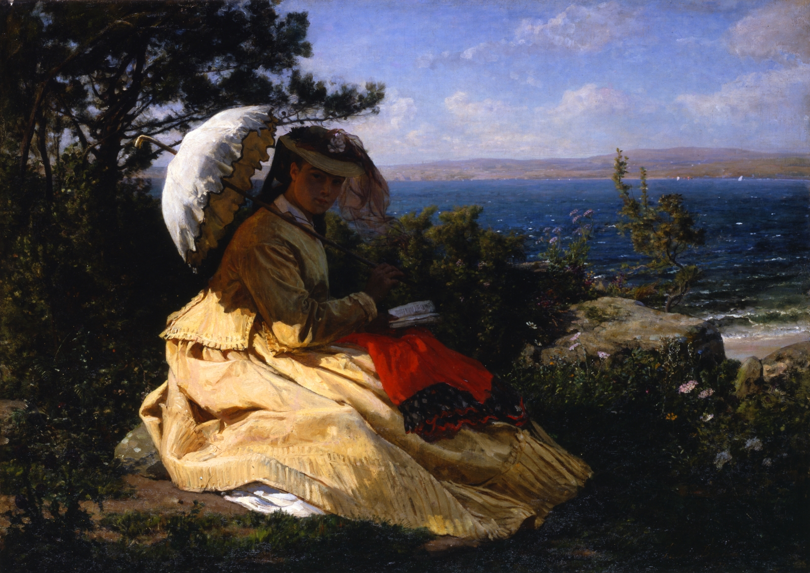 Élodie with a Sunshade: Bay of Douarnenez (Woman with Parasol)