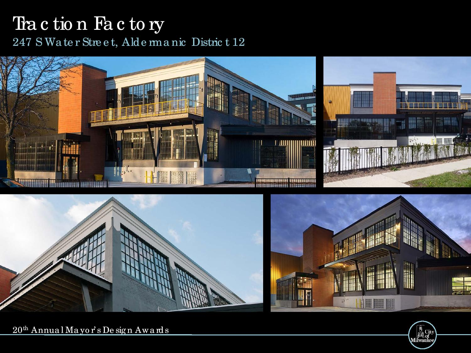 Traction Factory, 247 S. Water St.