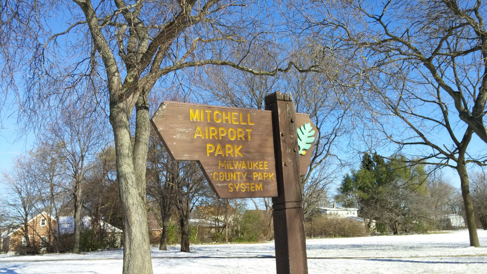 Mitchell Airport Park along E. Layton Avenue