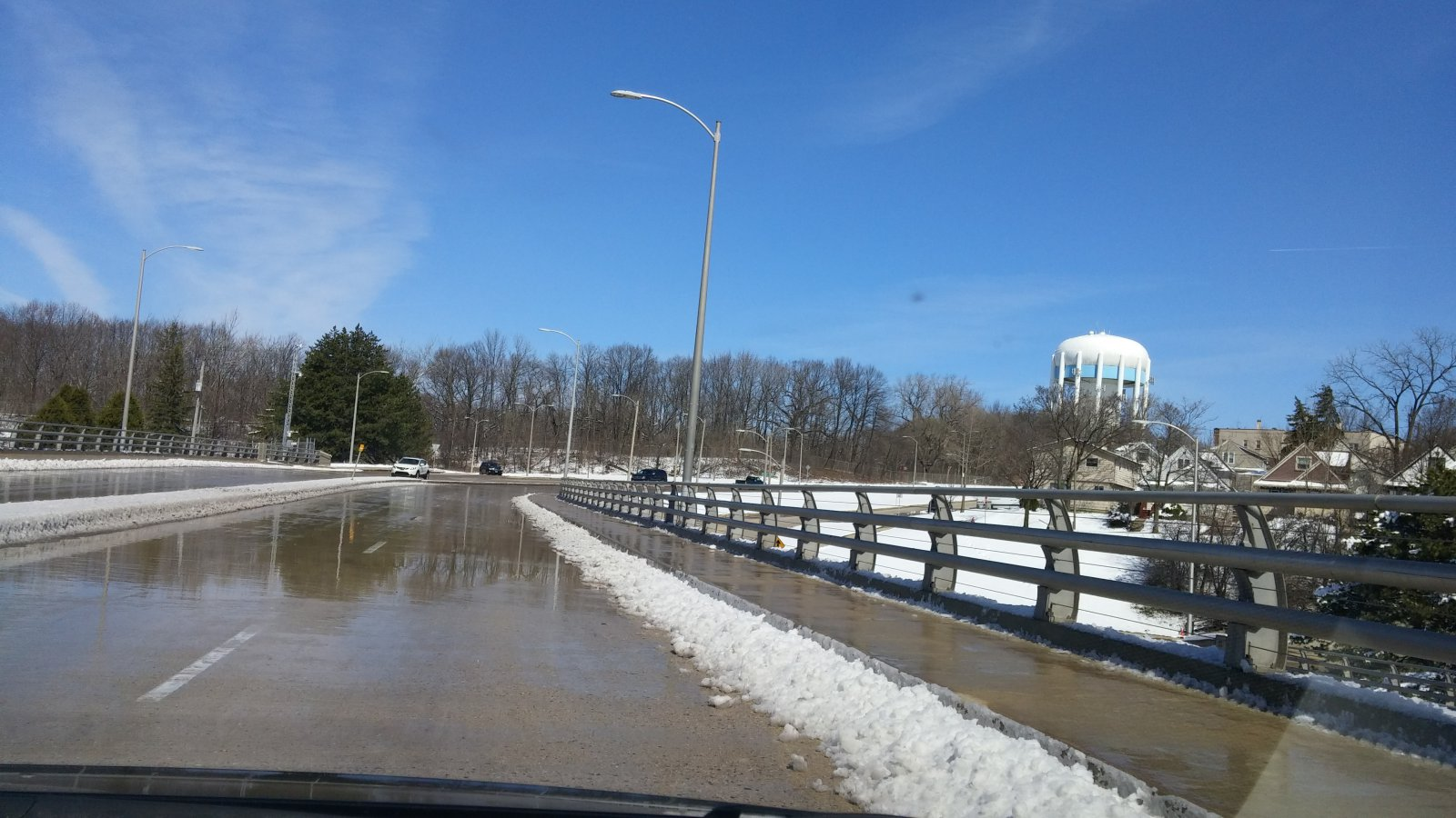 N. Hawley Road passes over the Menomonee River Valley