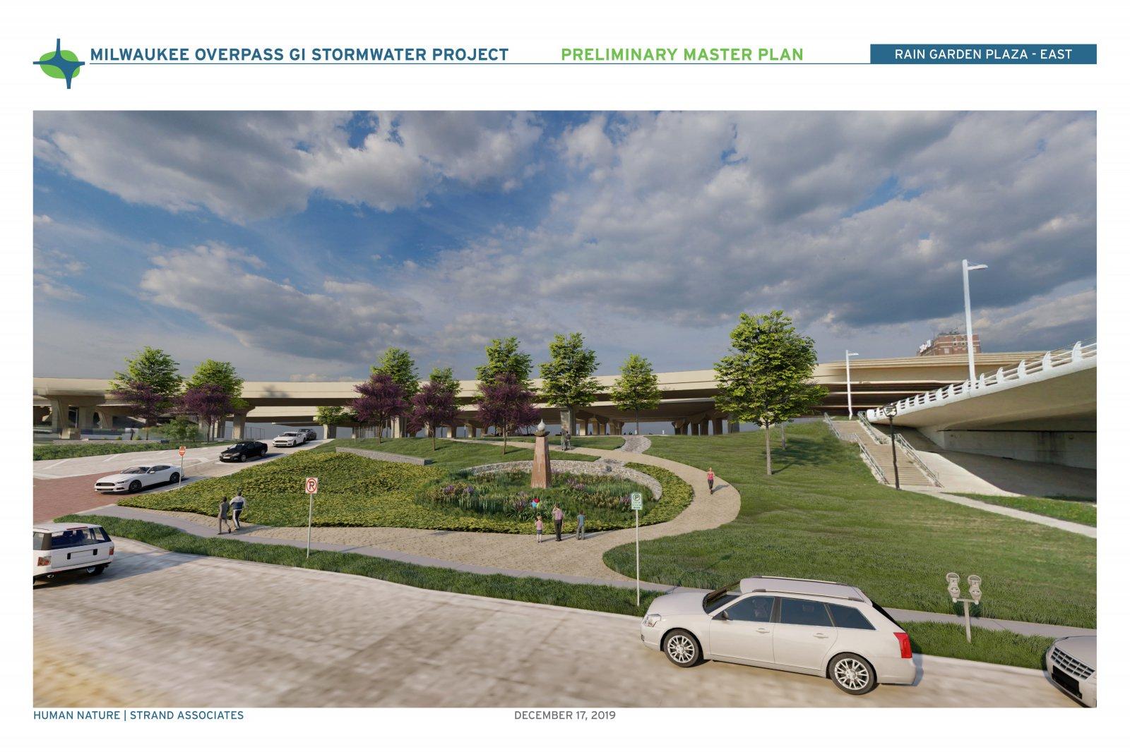 Milwaukee Overpass GI Stormwater Project Rendering