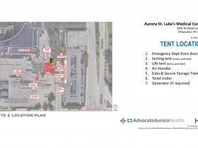 Tent location at St. Luke's