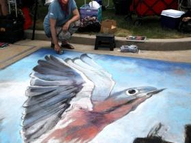 Chalk Artist, Kitty-Dyble Thompson, from Milwaukee
