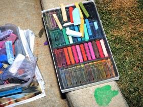 The artist palette of chalk