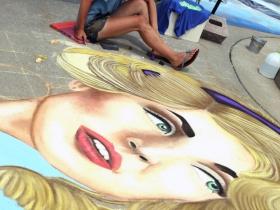 Artist and student, Kaylee Goodman, Hartford, WI