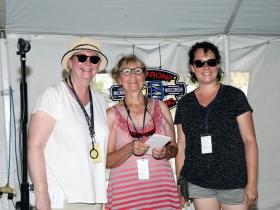 Laurie Winters, Third Place Winner Gloria Shird and First Place Winner Karen Williams-Brusubardis