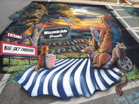 Chalk art by Jamie and Craig Rodgers, from Richmond Center, WI
