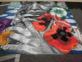 Chalk art by Lisa Gaither