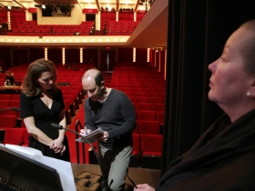 Janna Ernst, Francesco Milioto and Production Manager, Lisa Schlenker.