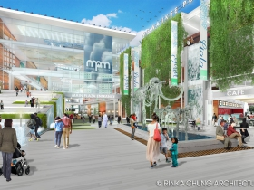Conceptual design for the Milwaukee Public Museum front entrance
