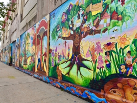 Tia Richardson continues to work with community members to create further murals, including one on the former Sears building on Forest Home Avenue near 14th Street
