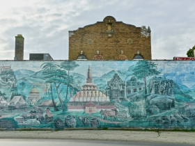 This mural adorns the east-facing wall at Phan's Garden, on National Avenue.