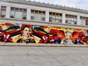 In recent years, artists Mauricio Ramirez has painted many murals around Milwaukee, including this one on Historic Mitchell Street.