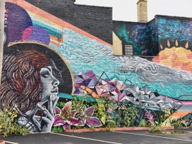 Milwaukee artists Zenon Castillo created this mural on South First Street in Walker's Point.