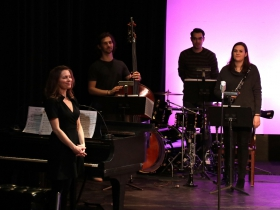 Pianist - Conductor, Janna Ernst, Adam Maloney, Bass, Ryan Kohlbaugh, Drumset/Percussion and Theresa Zick on Clarinet