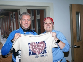 Bill Smith and Barb Drees from Badgerland Striders.