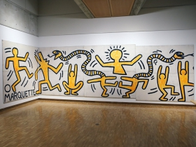 The Haggerty Museum of Art, Keith Haring Construction Fence.