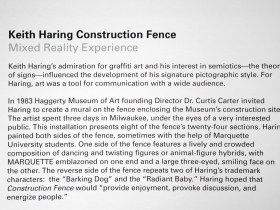 Keith Haring Construction Fence.