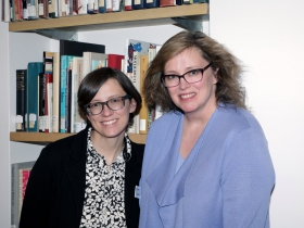 Rachel Kieselburg, Manager of Museum Administration and Susan Longhenry, Director and Chief Curator, Haggerty Museum of Art.