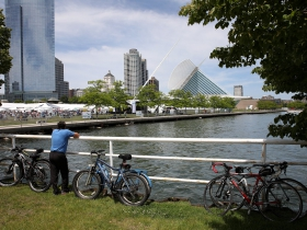 The 57th annual Lakefront Festival of Art on the grounds of the Milwaukee Art Museum