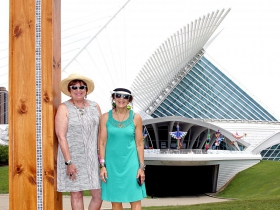 Sheryl Neumuth and Gail Groth, framed to make the perfect picture