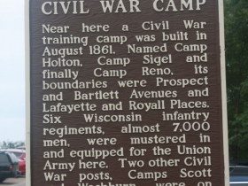 A Civil War marker