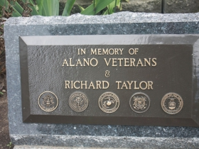 In memory of Alano Veterans and Richard Taylor