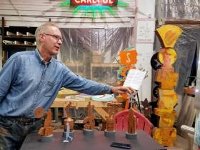 Artist Richard Taylor with FOHAST President Dan Adams